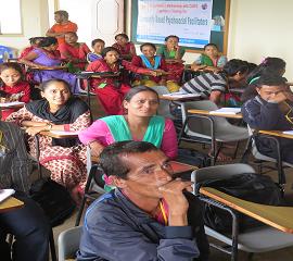 Community Based Psychosocial facilitators training in Nepal